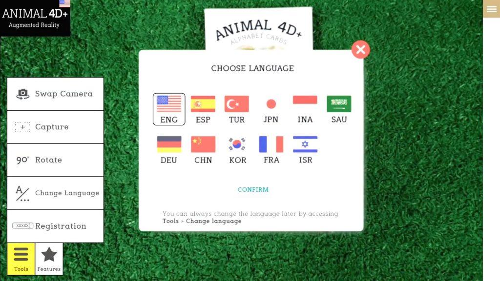 App hỗ trợ 11 ngôn ngữ khác nhau