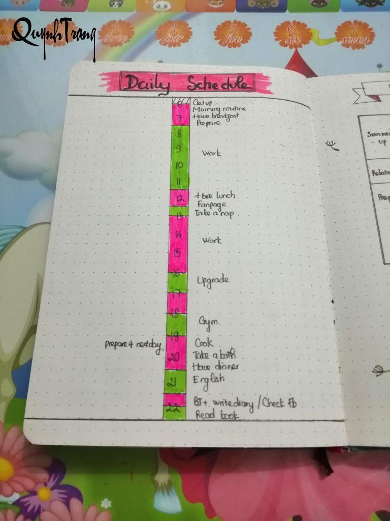 Daily log Bullet Journal