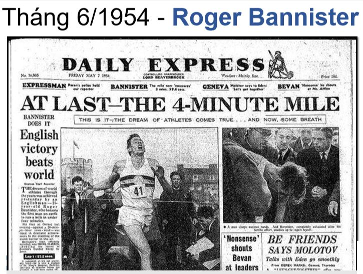 Roger Bannister thiet lap ky luc chay 1 dam trong 4 phut