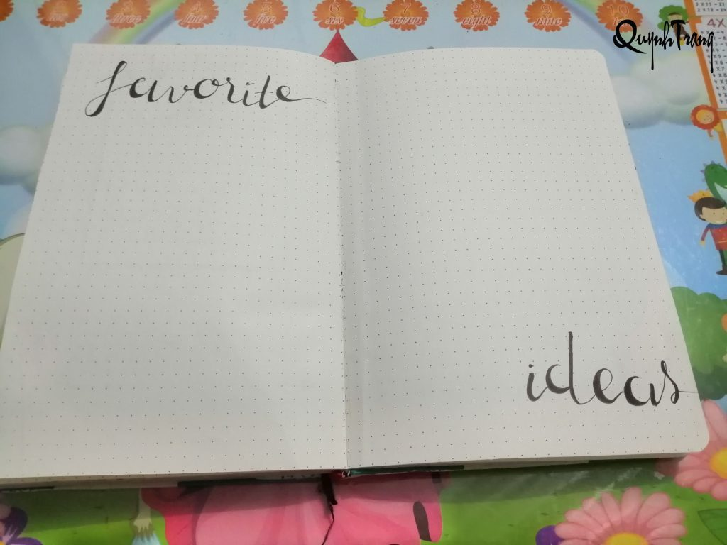 page ideas bullet journal