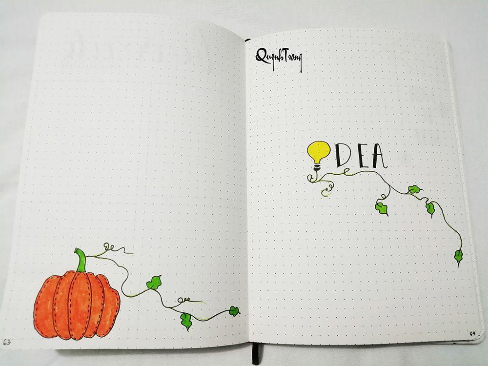 Bullet-Journal-October-idea-log