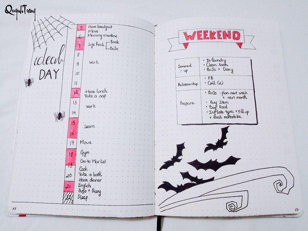 Bullet-Journal-October-ideal-day