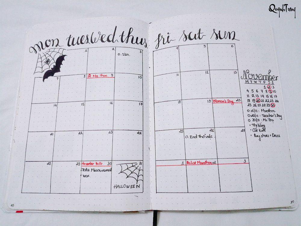 Bullet-Journal-October-monthly-log