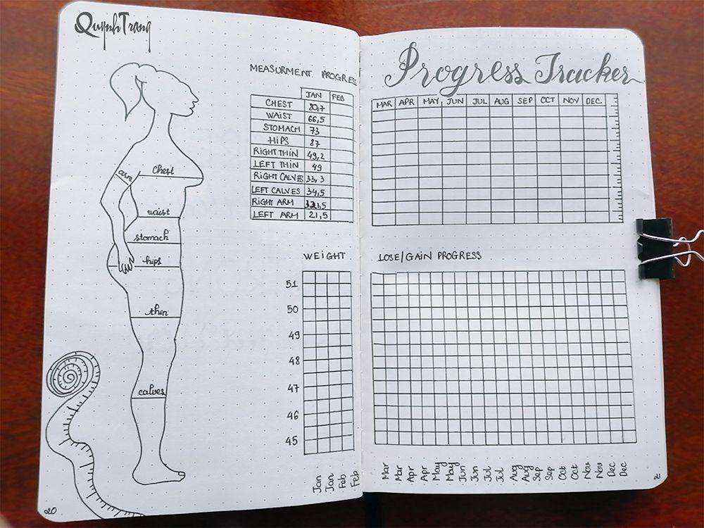 Bullet-Journal-Progress-Tracker