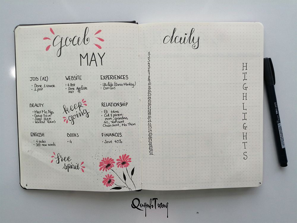 may-bullet-journal-goal-daily-highlight