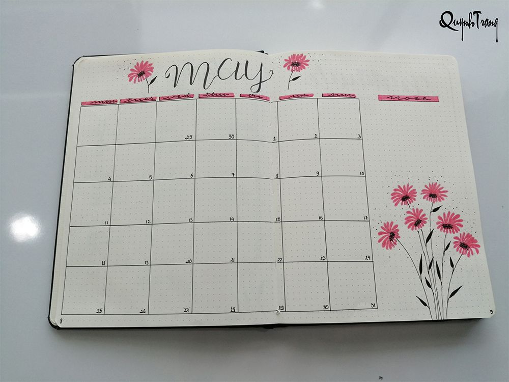 may-bullet-journal-monthly-log